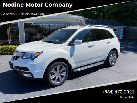 2012 Acura MDX for sale at Nodine Motor Company in Inman SC