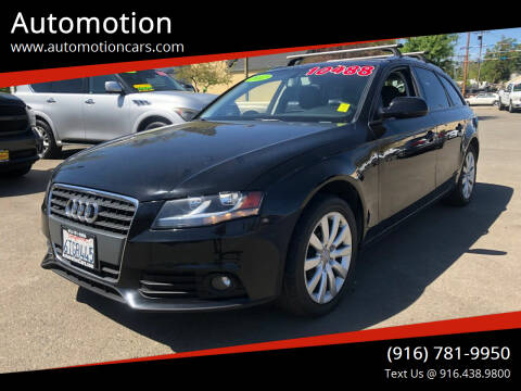 2012 Audi A4 for sale at Automotion in Roseville CA