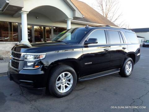 2016 Chevrolet Tahoe for sale at DEALS UNLIMITED INC in Portage MI