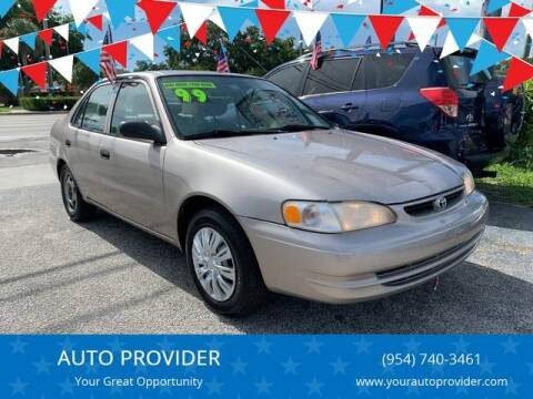 1999 Toyota Corolla for sale at AUTO PROVIDER in Fort Lauderdale FL