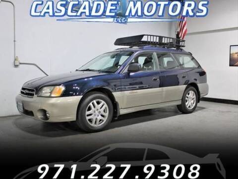 2002 Subaru Outback for sale at Cascade Motors in Portland OR