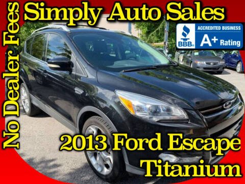 2013 Ford Escape for sale at Simply Auto Sales in Palm Beach Gardens FL