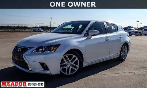 2016 Lexus CT 200h for sale at Meador Dodge Chrysler Jeep RAM in Fort Worth TX