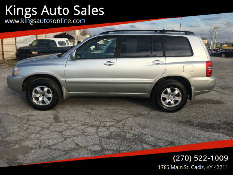 2002 Toyota Highlander for sale at Kings Auto Sales in Cadiz KY