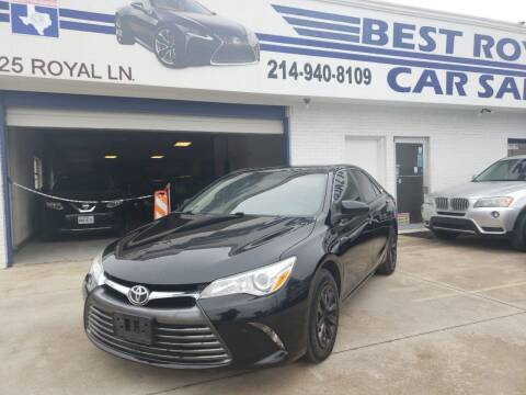 2016 Toyota Camry for sale at Best Royal Car Sales in Dallas TX