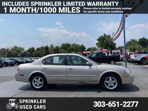 2000 Nissan Maxima for sale at Sprinkler Used Cars in Longmont CO