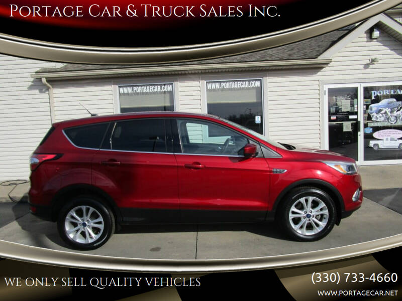 2017 Ford Escape for sale at Portage Car & Truck Sales Inc. in Akron OH