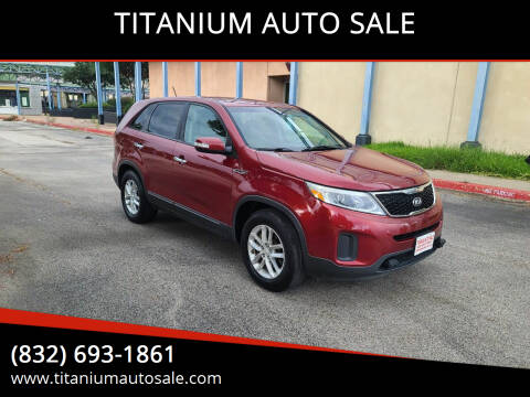 2014 Kia Sorento for sale at TITANIUM AUTO SALE in Houston TX