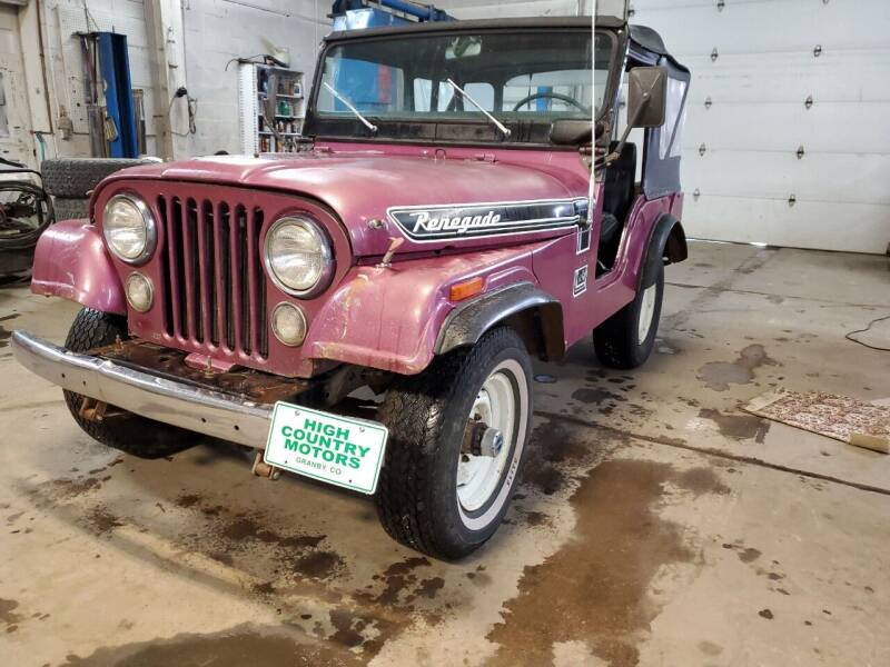 1974 Jeep Renegade for sale at HIGH COUNTRY MOTORS in Granby CO