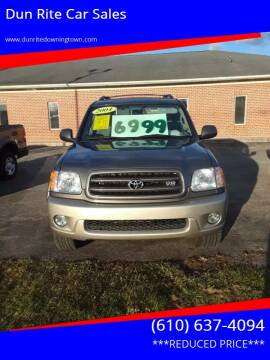 2004 Toyota Sequoia for sale at Dun Rite Car Sales in Downingtown PA