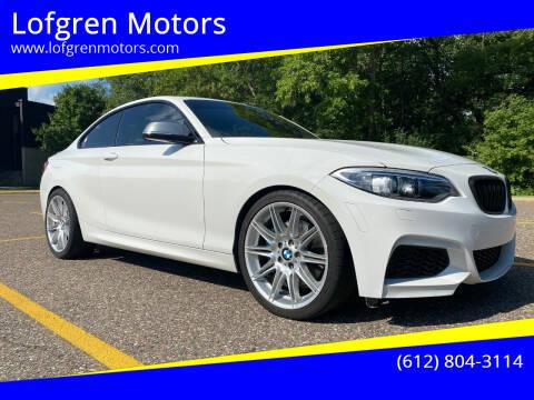 2015 BMW 2 Series for sale at Lofgren Motors in Wayzata MN