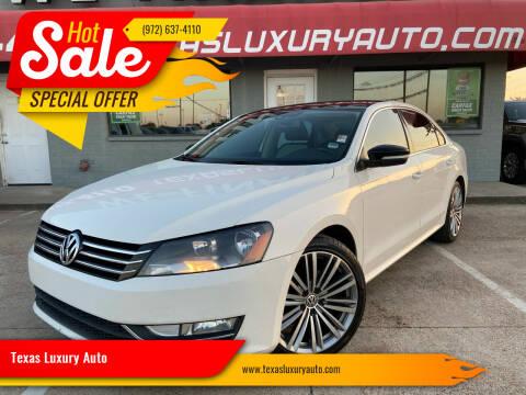 2014 Volkswagen Passat for sale at Texas Luxury Auto in Cedar Hill TX