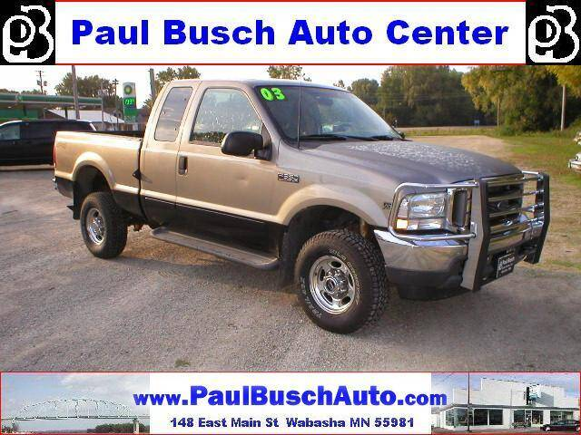2003 Ford F-350 Super Duty for sale at Paul Busch Auto Center Inc in Wabasha MN
