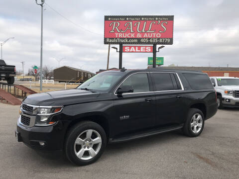 2015 Chevrolet Suburban for sale at RAUL'S TRUCK & AUTO SALES, INC in Oklahoma City OK