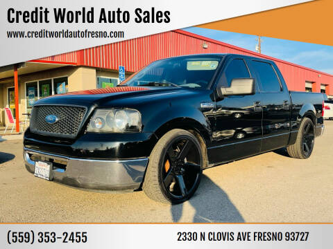 2006 Ford F-150 for sale at Credit World Auto Sales in Fresno CA