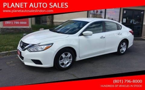 2016 Nissan Altima for sale at PLANET AUTO SALES in Lindon UT