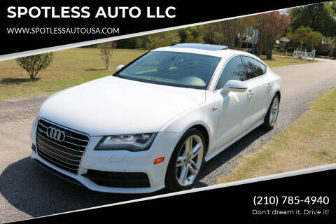 2013 Audi A7 for sale at SPOTLESS AUTO LLC in San Antonio TX