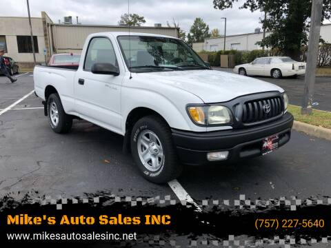2003 Toyota Tacoma for sale at Mike's Auto Sales INC in Chesapeake VA