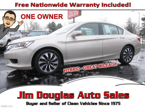 2015 Honda Accord Hybrid for sale at Jim Douglas Auto Sales in Pontiac MI