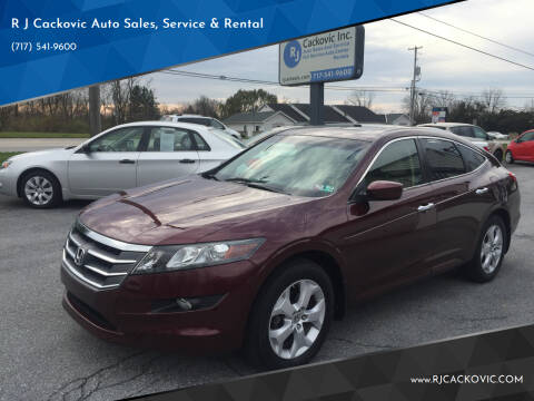 2012 Honda Crosstour for sale at R J Cackovic Auto Sales, Service & Rental in Harrisburg PA