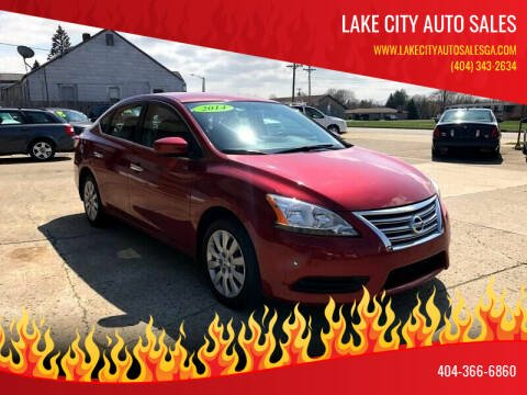 2014 Nissan Sentra for sale at LAKE CITY AUTO SALES in Forest Park GA
