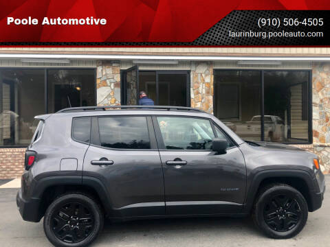 2018 Jeep Renegade for sale at Poole Automotive in Laurinburg NC