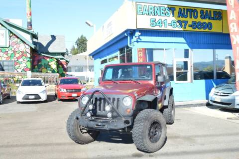 2013 Jeep Wrangler for sale at Earnest Auto Sales in Roseburg OR