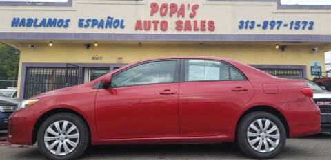2012 Toyota Corolla for sale at Popas Auto Sales in Detroit MI