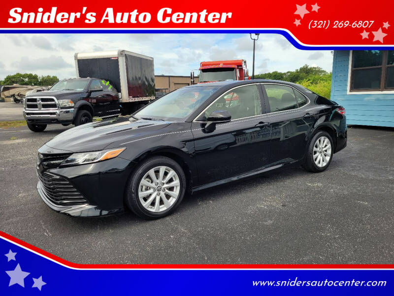 2018 Toyota Camry for sale at Snider's Auto Center in Titusville FL