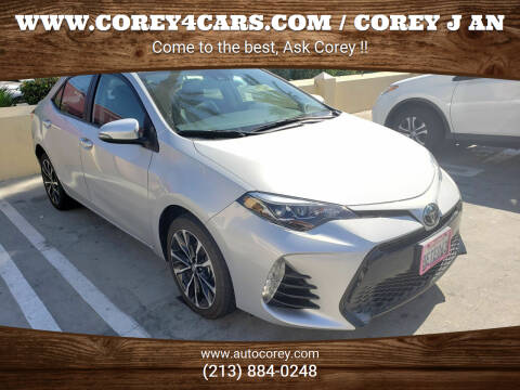2018 Toyota Corolla for sale at WWW.COREY4CARS.COM / COREY J AN in Los Angeles CA