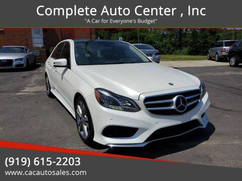 2014 Mercedes-Benz E-Class for sale at Complete Auto Center , Inc in Raleigh NC