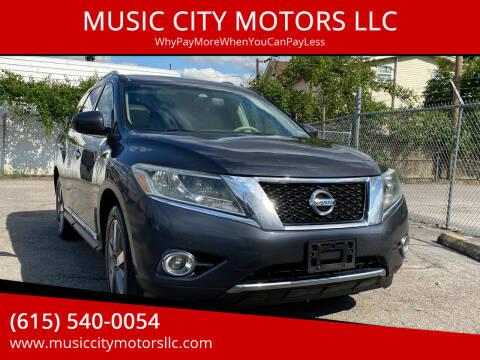 2013 Nissan Pathfinder for sale at MUSIC CITY MOTORS LLC in Nashville TN