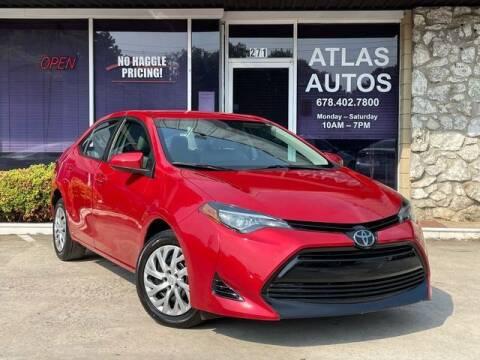2018 Toyota Corolla for sale at ATLAS AUTOS in Marietta GA