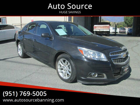 2013 Chevrolet Malibu for sale at Auto Source in Banning CA