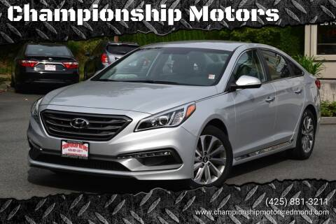 2016 Hyundai Sonata for sale at Mudarri Motorsports - Championship Motors in Redmond WA