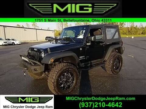2016 Jeep Wrangler for sale at MIG Chrysler Dodge Jeep Ram in Bellefontaine OH