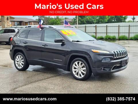 2014 Jeep Cherokee for sale at Mario's Used Cars - Pasadena Location in Pasadena TX