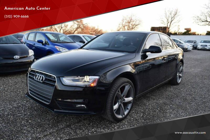 2013 Audi A4 for sale at American Auto Center in Austin TX
