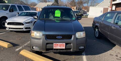 2001 Ford Escape for sale at Frank's Garage in Linden NJ