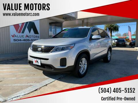 2014 Kia Sorento for sale at VALUE MOTORS in Kenner LA
