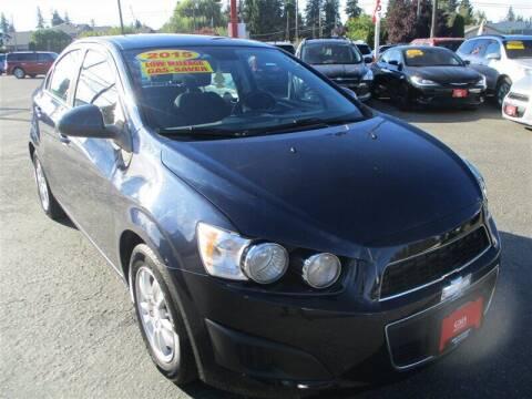 2015 Chevrolet Sonic for sale at GMA Of Everett in Everett WA