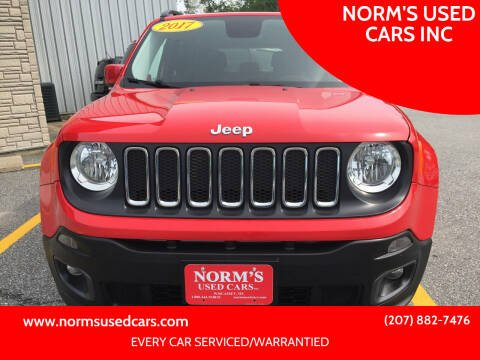 2017 Jeep Renegade for sale at NORM'S USED CARS INC in Wiscasset ME