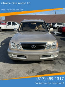 1999 Lexus LX 470 for sale at Choice One Auto LLC in Beech Grove IN