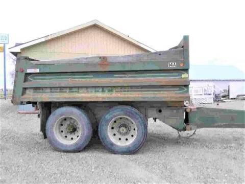 1983  Fruhauf  2-Axle Dump Pup Trailer for sale at Central City Auto West in Lewistown MT