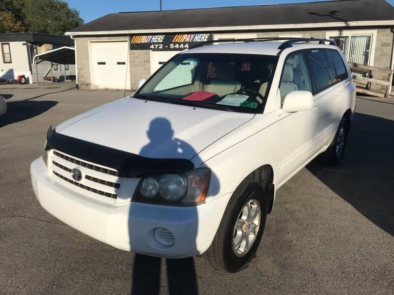 2002 Toyota Highlander for sale at RACEN AUTO SALES LLC in Buckhannon WV
