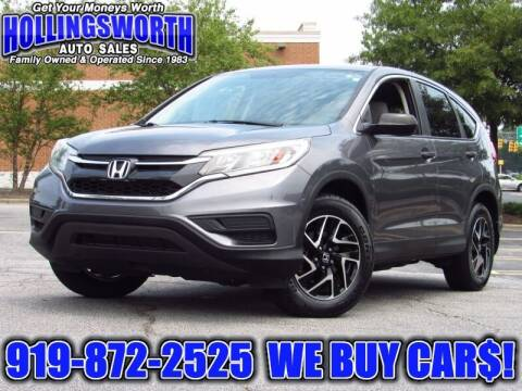 2016 Honda CR-V for sale at Hollingsworth Auto Sales in Raleigh NC