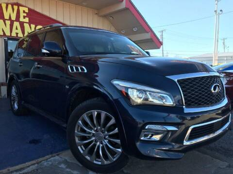 2015 Infiniti QX80 for sale at Caspian Auto Sales in Oklahoma City OK