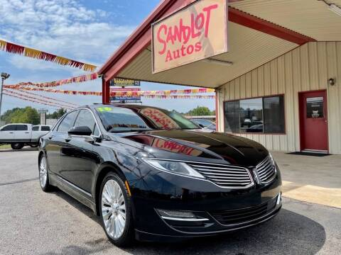 2016 Lincoln MKZ for sale at Sandlot Autos in Tyler TX