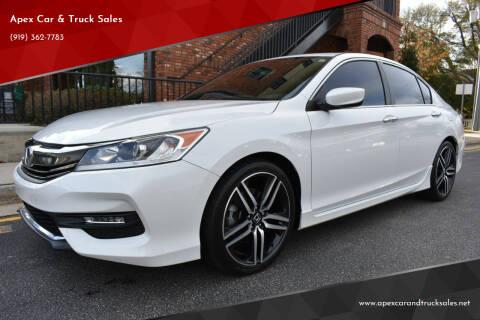 2017 Honda Accord for sale at Apex Car & Truck Sales in Apex NC