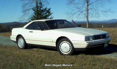 1989 Cadillac Allante for sale at Matt Hagen Motors in Newport NC